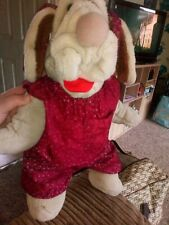 Wrinkles Vintage dog puppet In Perfect Condition Girl Dog With Floral Dress