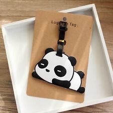 New Cute Panda Bear Luggage Tag Label Suitcase Bag ID Tag Name Address Tag L5