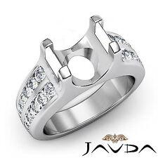 Fine Diamond Engagement Magnificent Ring 14k White Gold Round Semi Mount 0.62Ct