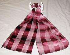 "Burgandy Red 15 X 60"" Stripes Bandana Scarf"