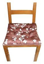 4 Coussins Galette Dessus de chaise marron clair imprimé