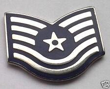 *** U.S. AIR FORCE RANK E6 TECH SGT ***  Military Veteran Rank Pin 15079 HO