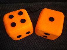 Orange and Black Dots Car Dice--3 Inch