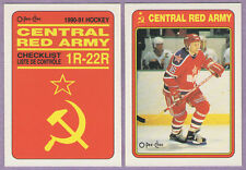 1990-91 OPC O-PEE-CHEE Central Red Army Team Set