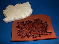 """Maple Leaf Leather Emboss Plate 4 3/4"""" x 3 1/4"""""""