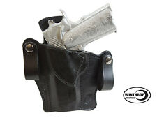1911 4 inch Barrel No lasergrips, No Rail IWB Dual Snap Holster LEFT Hand Black