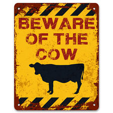 Beware of the Cow - Vintage Effect Metal Sign / Plaque
