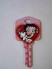 "Betty Boop ""Betty Boop & Pudgy"" Kwikset House Key Blank / New"