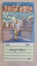 Midnight in Paris / Woody Allen, Bates, Brody / Very Good Cond Blu-ray DVD 83017