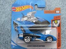 Hot Wheels 2018 # 116/365 DODGE CHARGER DAYTONA AZUL TOONED Muscle Mania