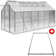 DEUBA® Gewächshaus 11,7m³Treibhaus Tomatenhaus Dachfenster Schiebetür 7,2m²