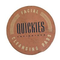 Vintage Facial Quickies Lotionized Cleansing Pads Glass Jar Toiletry Beauty