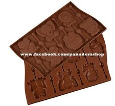 LARGE Animals Chocolate Lollipop Jelly Clay Fondant Silicone Mold Molder