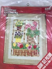 Crewel Giant Size Picture Flower Pots Embroidery Kit 711 K
