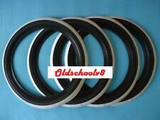 "ATLAS Brand 12"" Black Whitewall Portawall Tire insert Trim set 4 pcs"