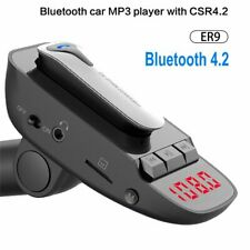 Wireless Bluetooth FM Transmitter Handsfree Car Kit Detachable Headset Charger
