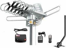 TV Antenna Outdoor Amplified Motorized 360 Degree Rotation Digital HDTV NEW