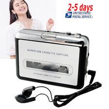 USB Cassette Tape to MP3 PC Converter Capture Stereo Audio Music Player Porpular