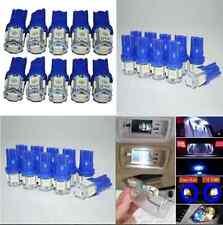 10Pcs T10 194 168 2825 5050 5SMD LED Super Bright Car Lights Lamp Bulb Blue New