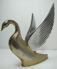 Antique Swan Bird Auto Hood Mascot emblem badge ornamental large spread wings