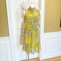 Nanette Lepore Sleeveless High Neck Smocked Dress New With Tags Size 14