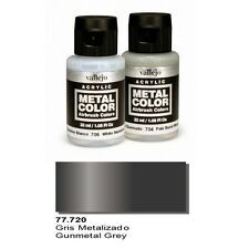 Vallejo Paints Metal Color VLJ-77720 Gunmetal Grey Metal Color 32ml Bottle