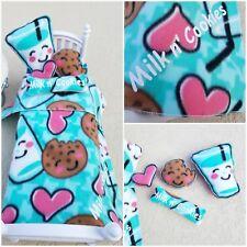 Milk N Cookies Bedding set American 18 inch Doll 5 Pieces HANDMADE #Cute!!!
