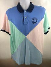 Vineyard Vines Polo Shirt Kentucky Derby Patchwork Pique Triangle Color Block LG