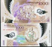 VANUATU 1000 VATU ND 2014 P 13 POLYMER UNC