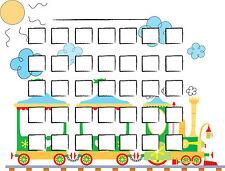 Impresión A5-Tabla de bonificación de tren de juguete para niños incluye pegatinas de tren (Cuarto de Niños)