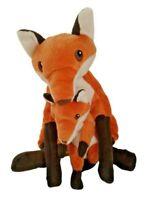 IKEA Fox Mother With Baby Fox VANDRING RAV Plush White Orange Brown Stuffed