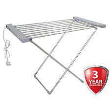 Electric Clothes Airer Dryer Indoor Horse Rack Laundry Folding Washing Clothing