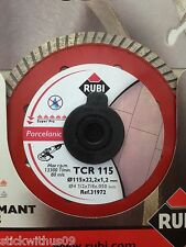 Rubi TCR 115 (was TCRP) Diamond Blade for Angle Grinder Dry cut Rubi Ref: 31972