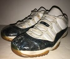 2001 Nike Air Jordan XI 11 RETRO SNAKE LOW SNAKESKIN 136071-102 Men's sz 13