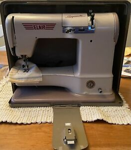 ELNA 722010 SUPERMATIC SEWING MACHINE WITH CASE WORKING