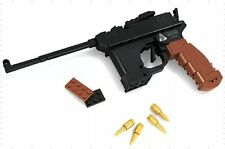 Building Brick Block Mauser Hand Gun - Compatible with Lego