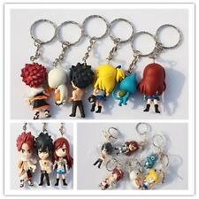6Ics Set Hot IVC Keychain Anime Fairy Tail Gift Of IVC Soft Rubber Key Chain Cξ