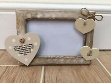 Shabby personalised Chic Photo Frame DAD In Memory Of A Loved One 6 X 4 Rustic