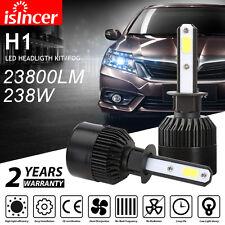 2x H1 Single Beam LED Headlight 238W 23800LM White Bulbs 6500K Kit iSincer PM