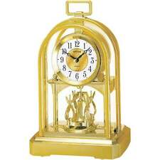 Widdop & Co Arched Dome Gold Tone Spinning Pendulum Anniversary Carriage Clock