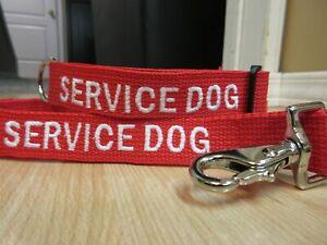 Service Dog Collar and 6' Leash Set Custom Made Service Dog Collar and Leash Set