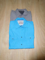 2 x Esprit Freizeithemden Herren Gr. XL / XXL  Blau Kurz-& Langarm Hemd Hemden