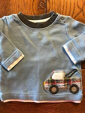*GYMBOREE* Boys MR. TOW TRUCK Wrecker Truck Car Top Long Sleeve Shirt 3-6 Months