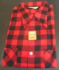 NOS 50's CLADRITE Red Black Grey 2 Pocket! Loop Collar! Long Sleeve ROCKABILLY L