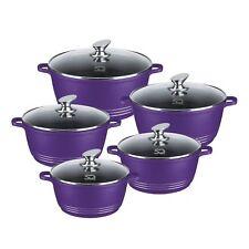 SQ Professional Nea Aluminium Die-cast Cooking Casserole set 5 pcs  Purple