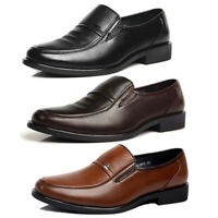 Men's Business Formal Dress Shoes Slip On Leather Oxford Work Flat Shoes