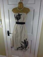 Debut Cream Cotton Lined Dress, UK 12, VGC REDUCED!