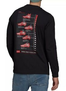 Adidas Soccer Long Sleeve T-Shirt Analysis Of Predator MENS Size XL Black NWT