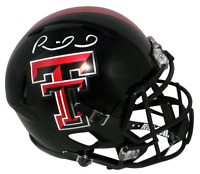 PATRICK MAHOMES AUTOGRAPHED TEXAS TECH RED RAIDERS FULL SIZE SPEED HELMET JSA