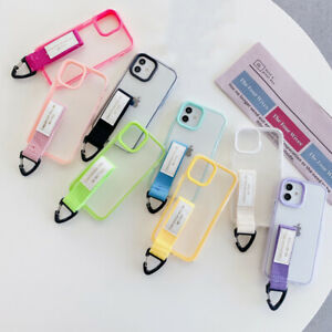 For iPhone 13 12 Po Max 11 XS Max XR 8 7 Plus Wristband Holder TPU PC Case Cover